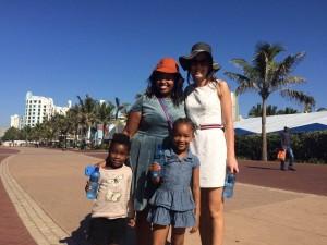 S'bu Msimang, her kids and an instawalker imbibing inspiration.