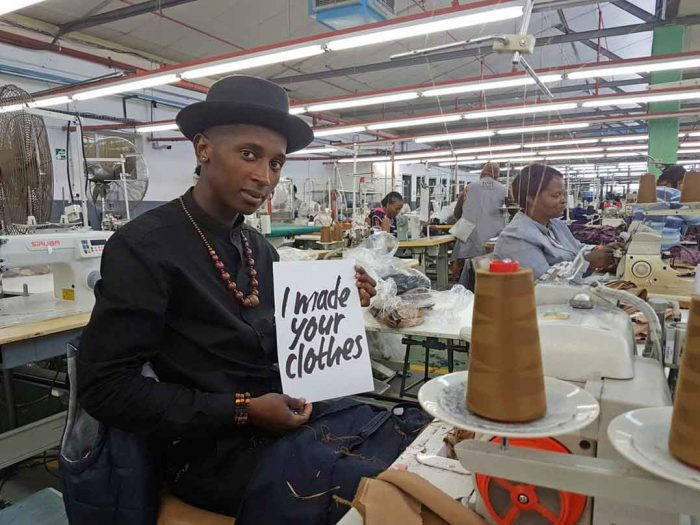 Phumlani Mrabala is a machinist at TCI Apparel in Cape Town. Fashion Revolution strives to bring the lives of people like him to the fore. Photo: Khobe Ntsoaole