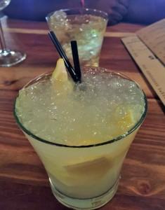 A lemon caipirinhia - I dare you to stop at just one!