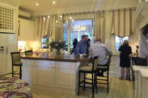 The kitchen that even guests at the opening gravitated towards