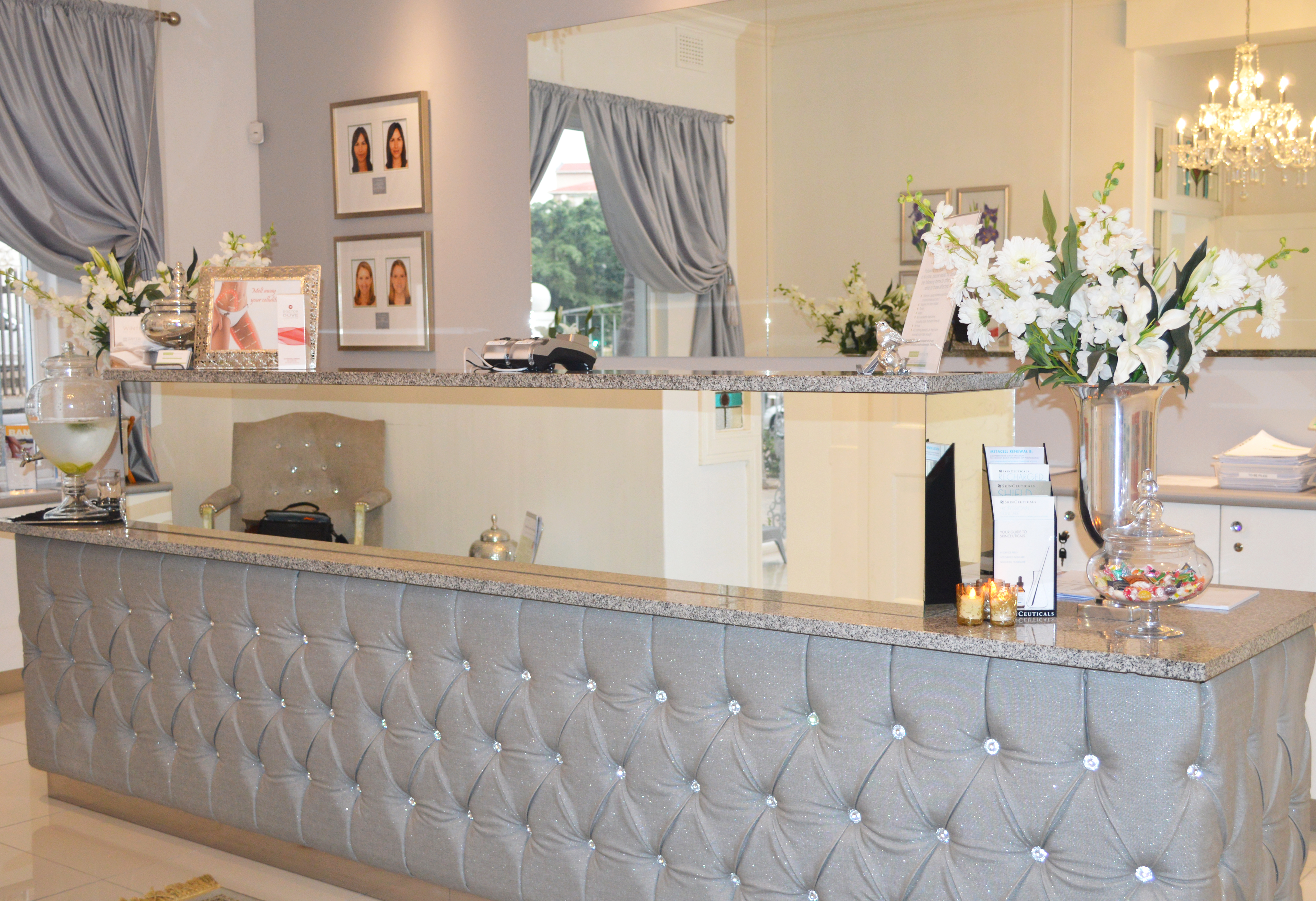The reception area at Skin Renewal is warm and inviting, setting the tone for your treatment. Picture: Meneesha Govender