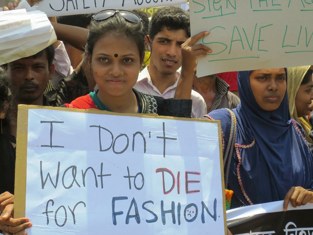 Garment workers who survived the Rana Plaza factory collapse, take a stand against inhumane working conditions